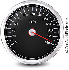 automobile, vettore, speedometer.