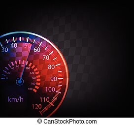 automobile, vettore, tachimetro, fondo