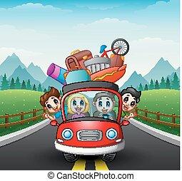 automobile, viaggiare, famiglia