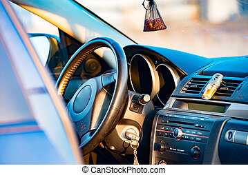 automobile, vista, interno