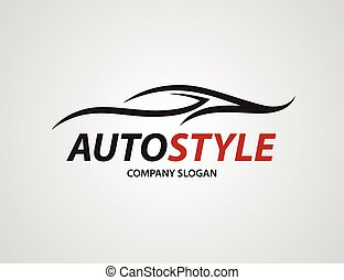 logo design voiture automobile silhouette illustration isolated automobile gris. Black Bedroom Furniture Sets. Home Design Ideas