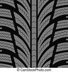 Automobile winter tire seamless vector pattern.