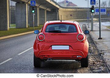 automobilen, af, bagside