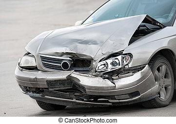 automobilen, beskadig, vej