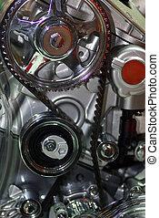 automobilen, enginet, -, rykke sammen, image, i, en,...