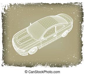 automobilen, er, designed., vektor
