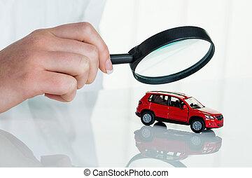 automobilen, er, er, efterset, af, doktor