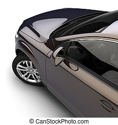automobilen, hos, en, mørke, two-tone, maling, ind, den,...