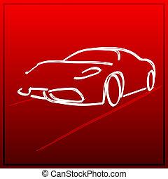 automobilen, ikon