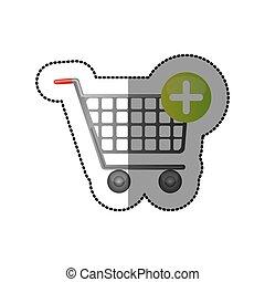 automobilen, image, køb, ikon