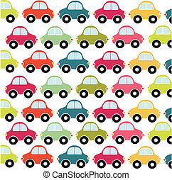 automobilen, mønster, stykke legetøj