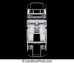 automobilen, ramme, isolated., 3, illustration