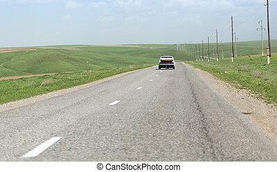 automobilen, vejen