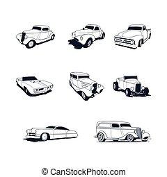 automobili, collezione, classico