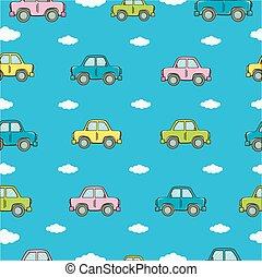 automobili, differente, seamless, fondo, colors.
