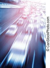 automobili, digiuno, autostrada