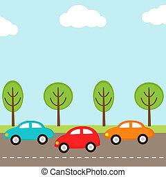 automobili, fondo
