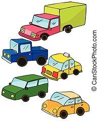automobili, giocattolo, colorito