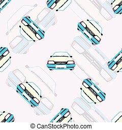 automobili, giocattolo, seamless, fondo, bambini