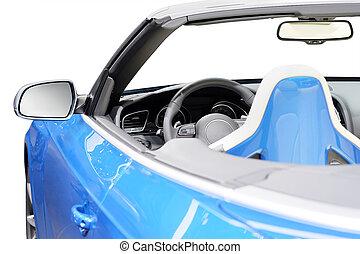 automobili, in, uno, sala esposizione