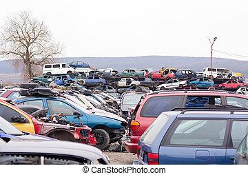automobili, junkyard