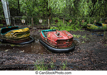 automobili, pripyat, parco, abbandonato