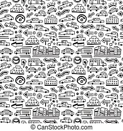 automobili, seamless, fondo
