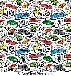 automobili, -, seamless, fondo
