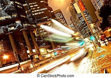 automobili, spostamento, digiuno, notte