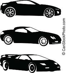 automobili, vettore, -, collezione