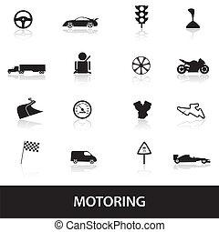 automobilismus, ikona, eps10