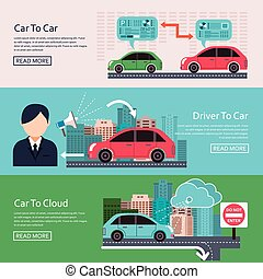 automobilistico, concetto, iot