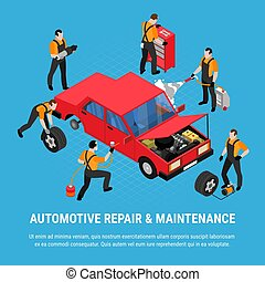 automobilistico, concetto, riparazione