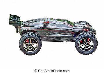 Automodel - sport car - Radio controlled sport car isolated...
