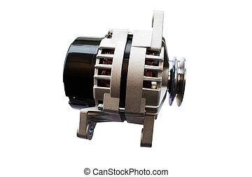 Automotive alternator isolated on a