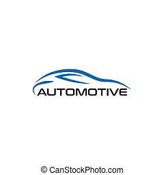 Automotive car line art logo design template
