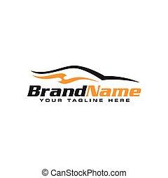 Automotive car logo design. Car Logo Vector Illustration.