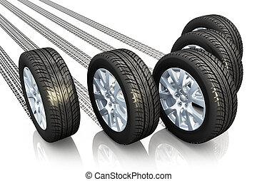 Automotive concept - Creative automotive concept: set of car...