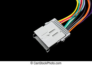 Automotive electrical connector - Close up shot of ...