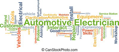 Automotive electrician background concept