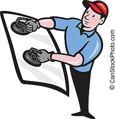 Automotive Glass Installer - Illustration of an automotive...