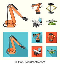 Automotive industry and other web icon in cartoon,flat style.New technologies icons in set collection.