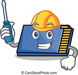 Automotive memory card mascot cartoon