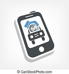 Automotive mobile icon