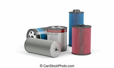 Automotive oil filters - Different types of automotive oil...