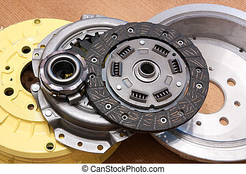 automotive parts. brake wheel and automobile  clutch