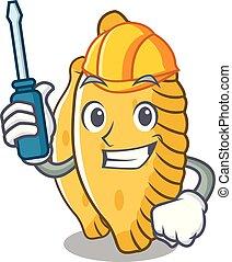 Automotive pastel mascot cartoon style vector illustration