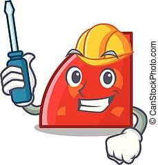 Automotive quadrant mascot cartoon style vector illustration