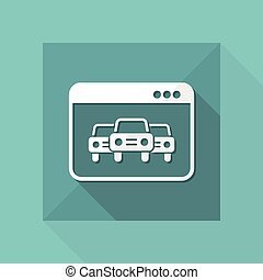 Automotive services online - Vector web icon