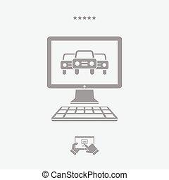 Automotive services online - Vector web icon